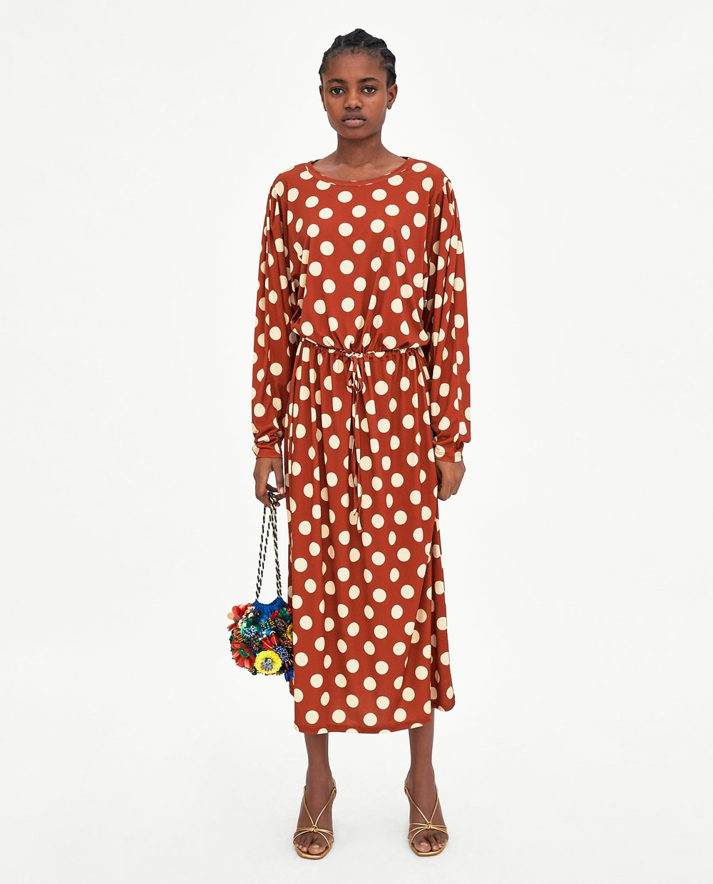 - POLKA DOT STRETCH DRESS / Zara $45.90