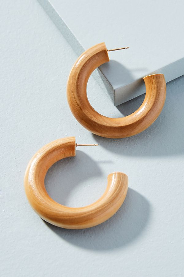 - RIO WOODEN HOOPS / Sophie Monet available at Anthropologie $128