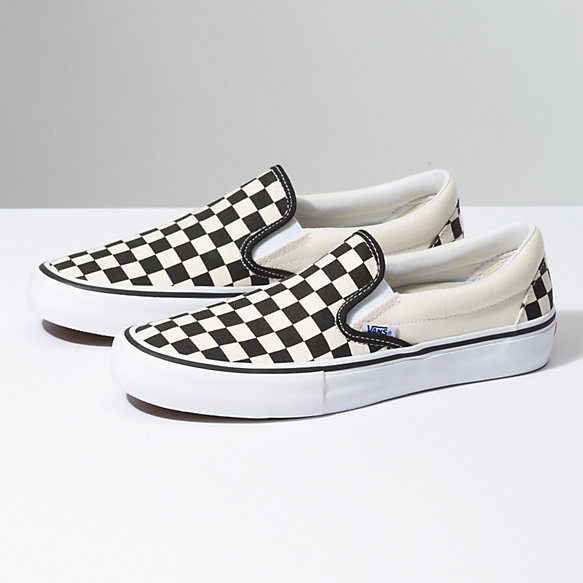 - CHECKERBOARD SLIP-ON PRO / Vans $60