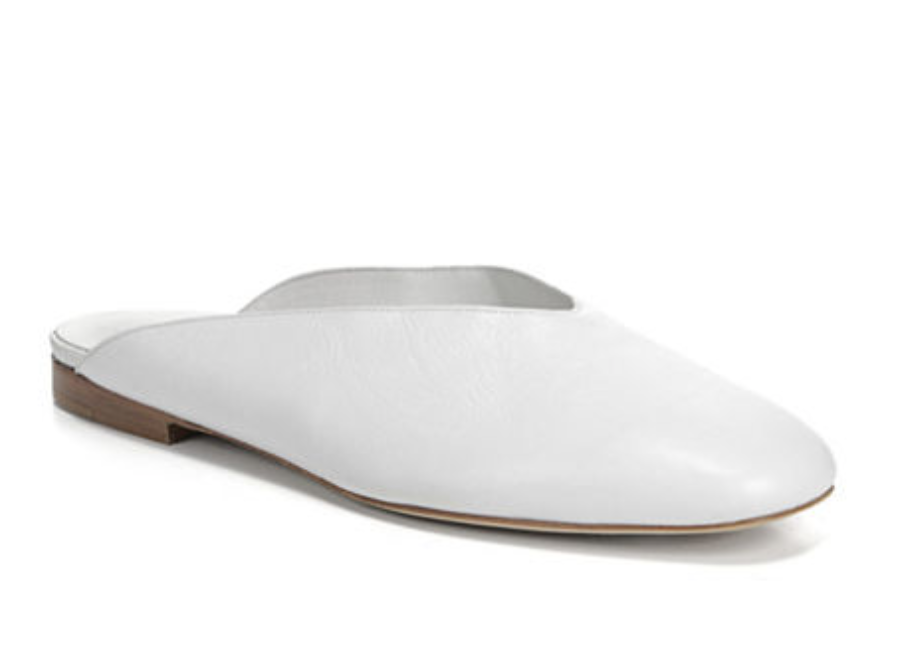 - LEVINS LEATHER FLAT MULE / Vince available at Neiman Marcus $250