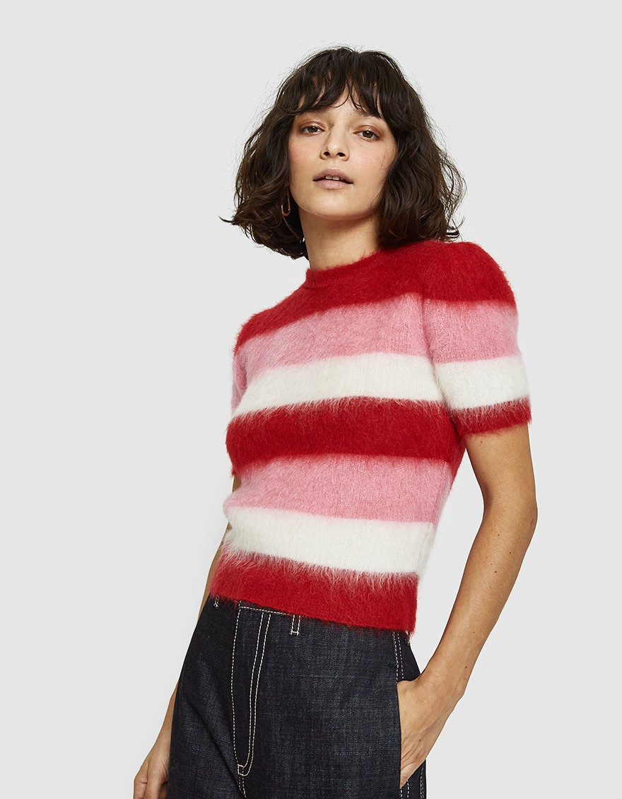 - Marni / Short Sleeve Mohair Sweater