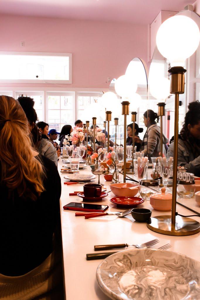 Glossier at Rhea's Cafe in San Francisco // DNAMAG