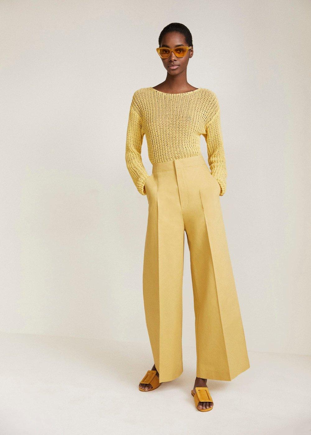 - Mango / High-Waist Palazzo Trousers