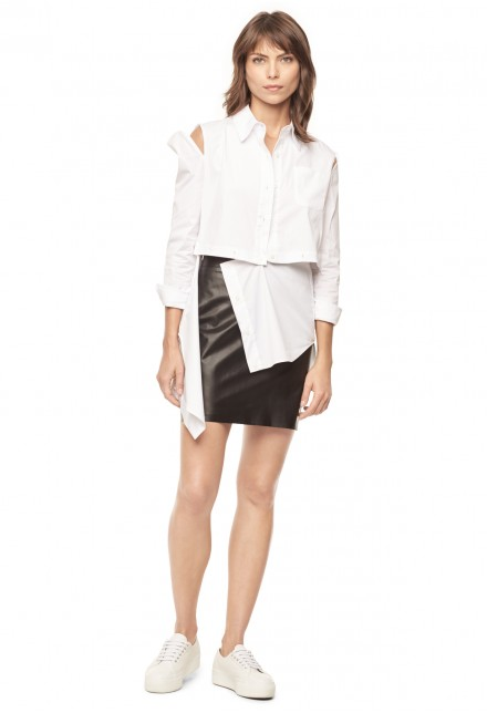 - Milly / Cotton Poplin Fractured Shirt