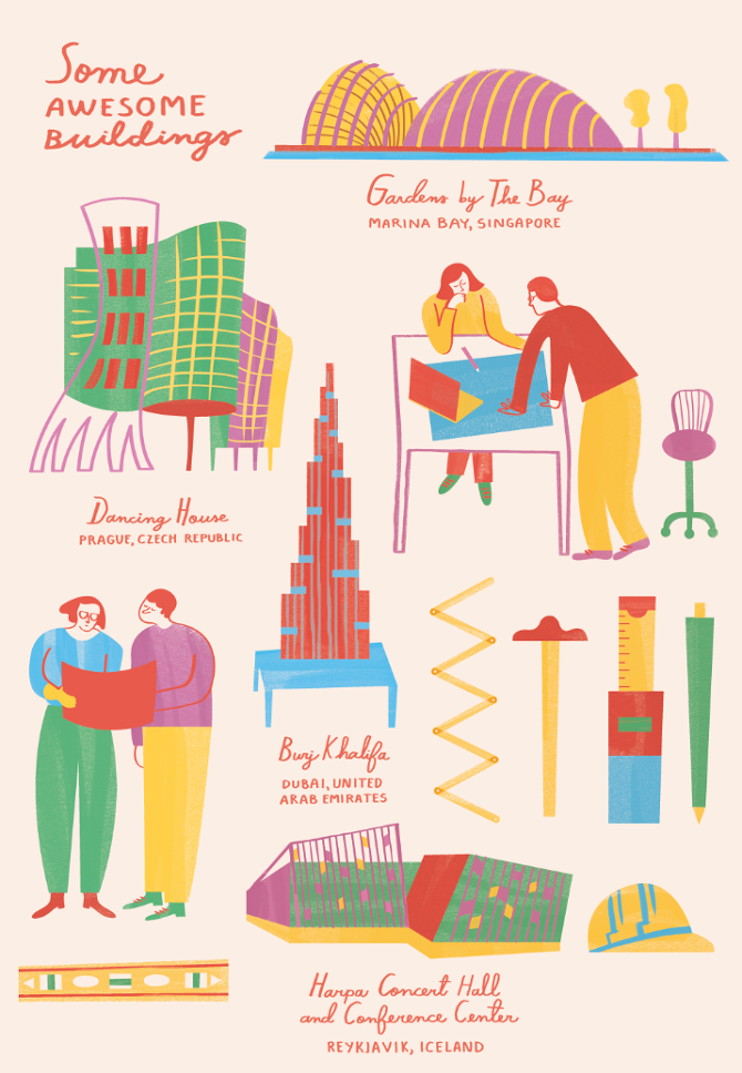 Modern architecture illustrated by Monica Andino // DNAMAG
