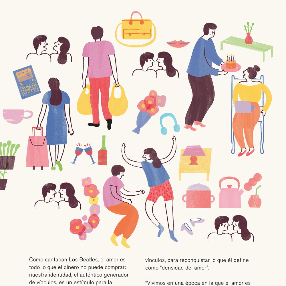 Love and mass media illustrated by Monica Andino // DNAMAG