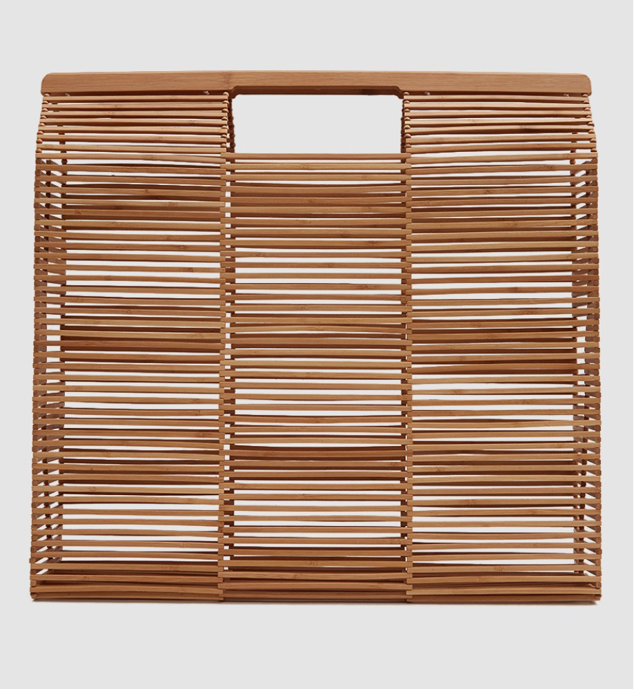 - WOODEN BEACH BAG / Cult Gaia $228