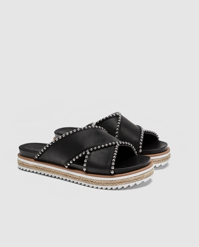- BEADED SLIDES / Zara $59.90