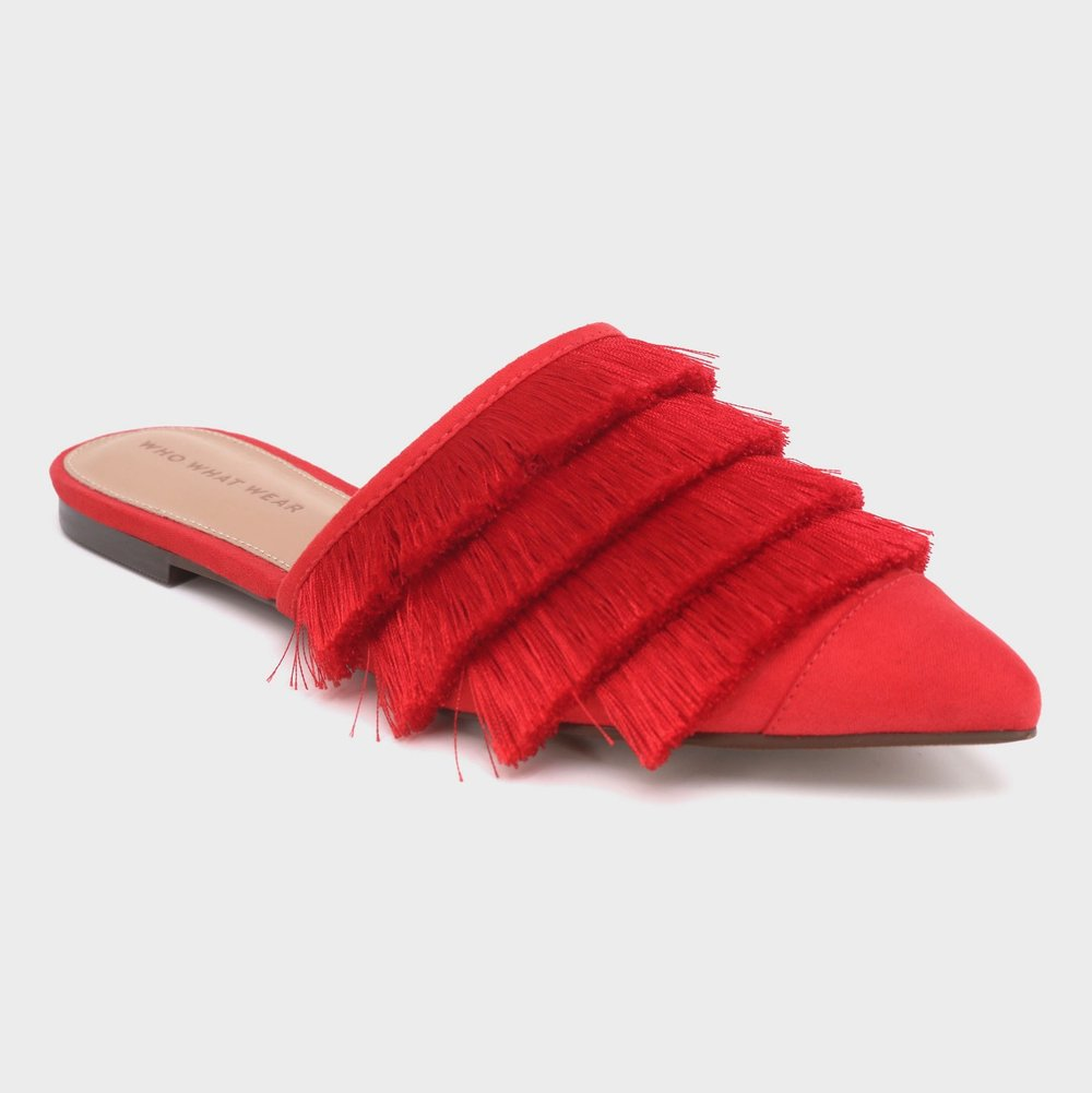 - ANNIE SATIN TASSEL MULES / Who What Wear $40