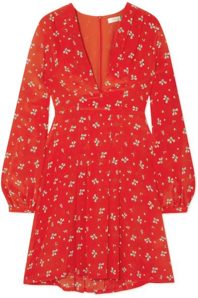 - HARPER FLORAL-PRINT CREPE DE CHINE DRESS / RIXO London was $360, now $180