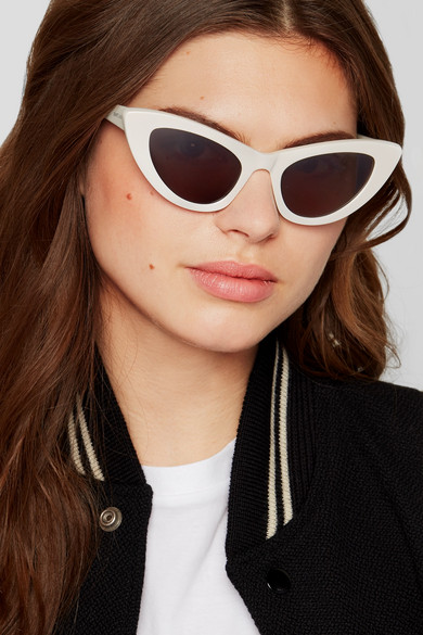 - NEW WAVE LILY CAT-EYE SUNGLASSES / Saint Laurent was $350, now $210