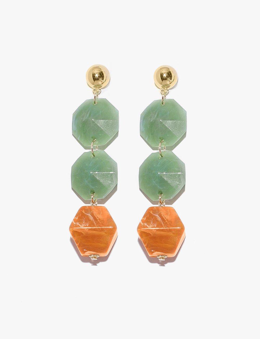 - Pixie Market / Jade Chandelier Earrings
