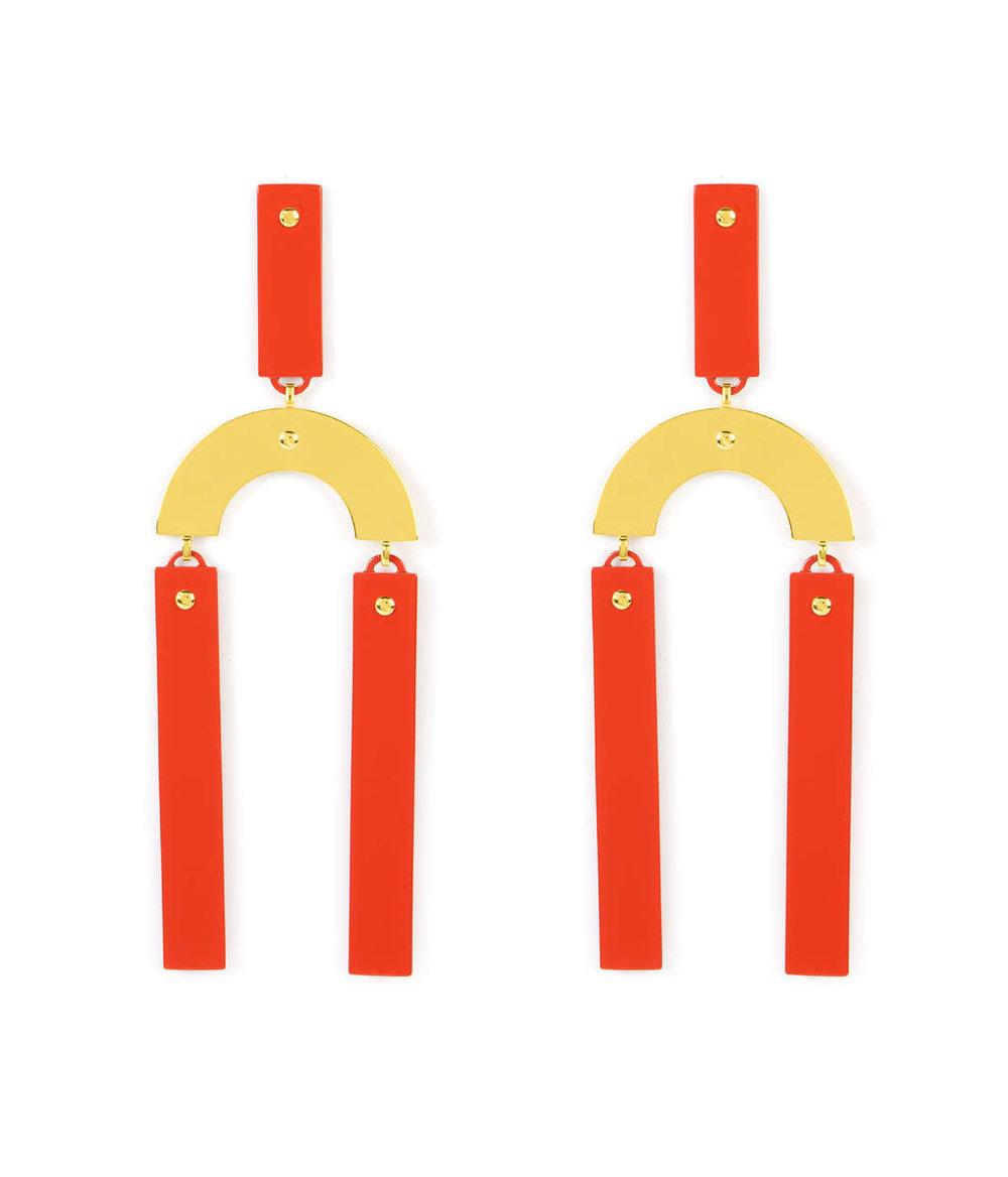 - Henri Bendel / Enamel Link Earring
