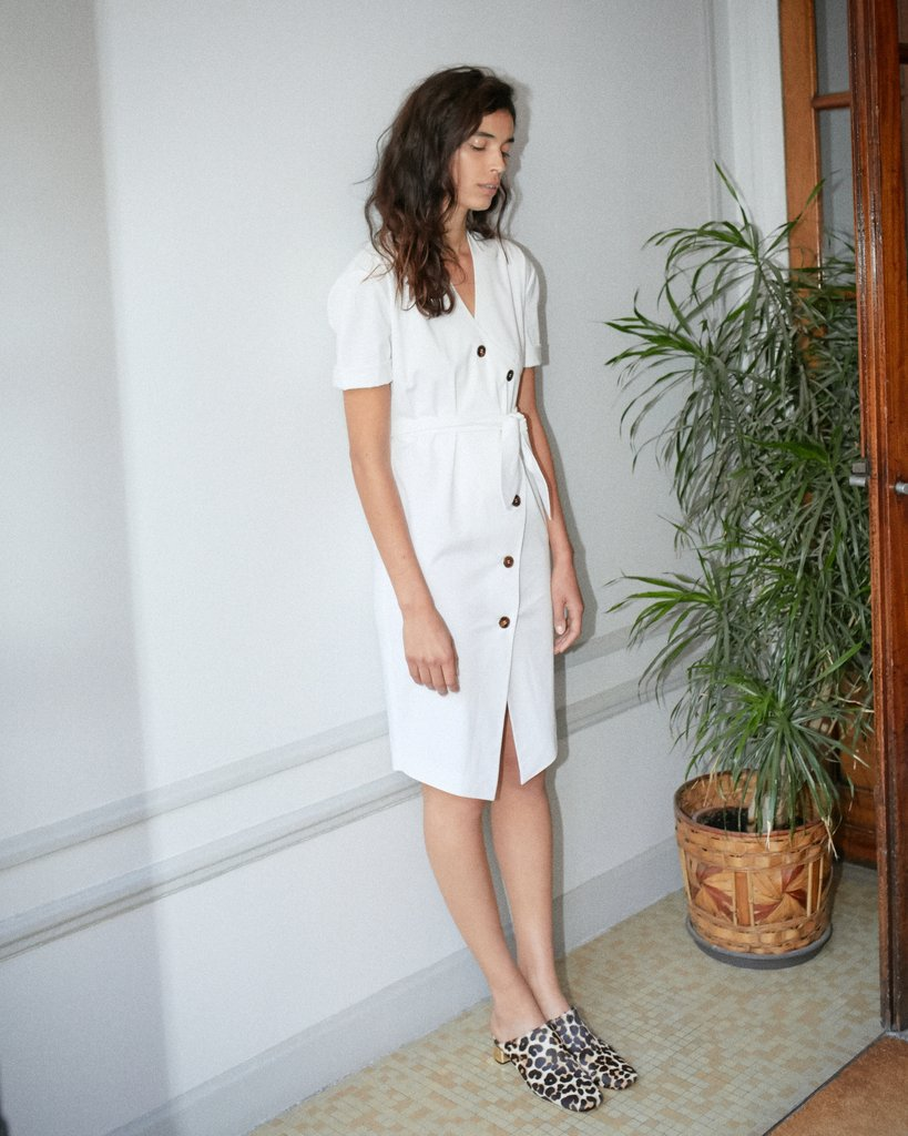 - FAITH BALLOON SLEEVE DRESS / Nanushka $340