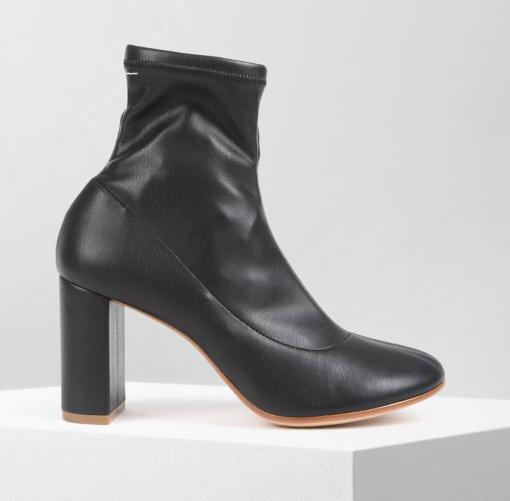 - PUMP SOCK ANKLE BOOTS / MM6 $294