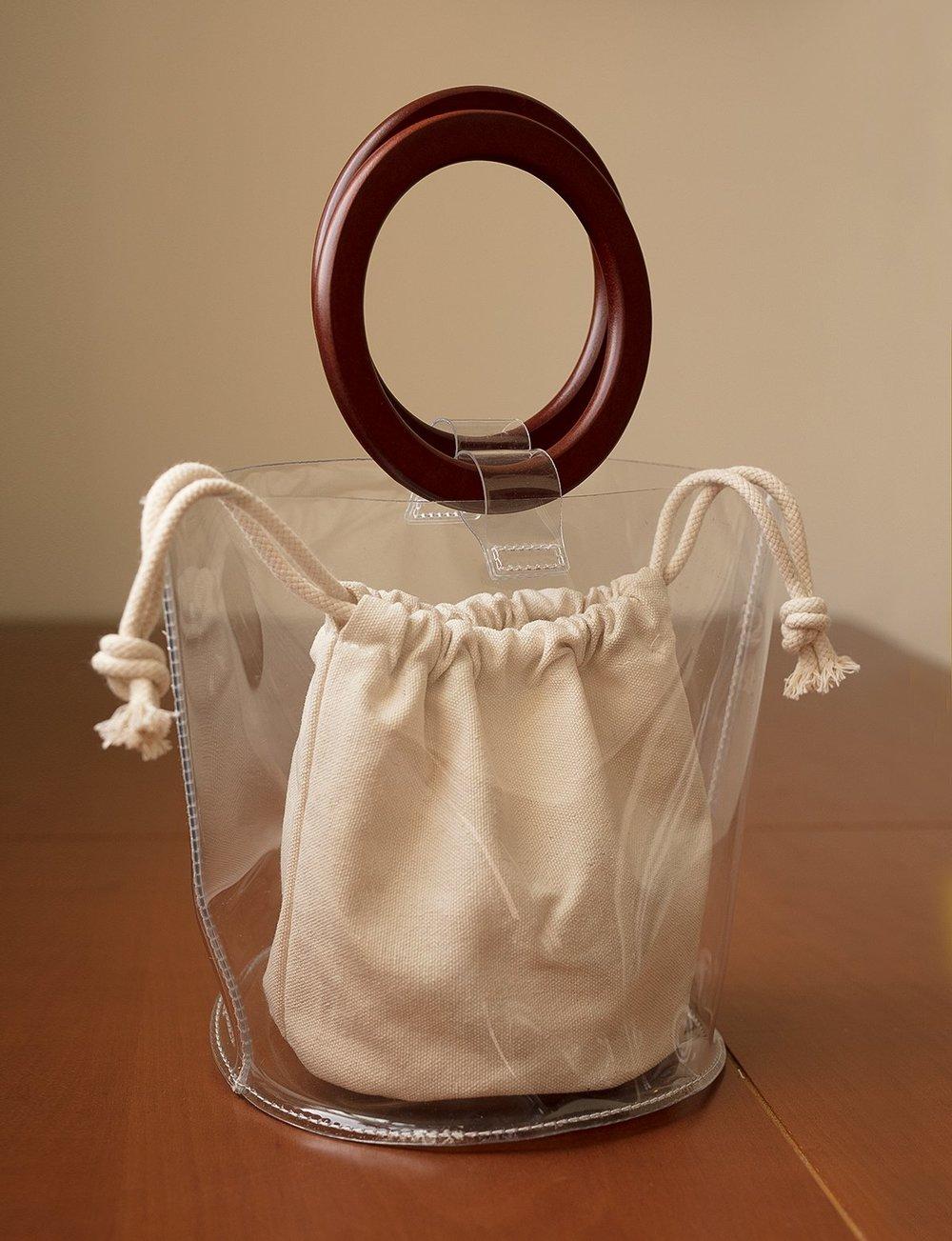 Pixie Market / Ring Handle Clear Vinyl Bag -