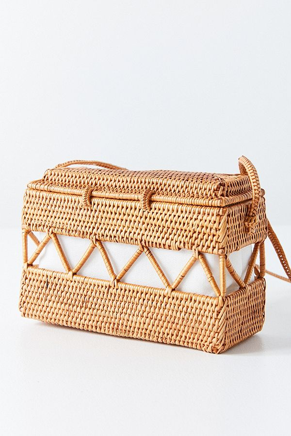 Urban Outfitters / Straw Structured Crossbody Bag -