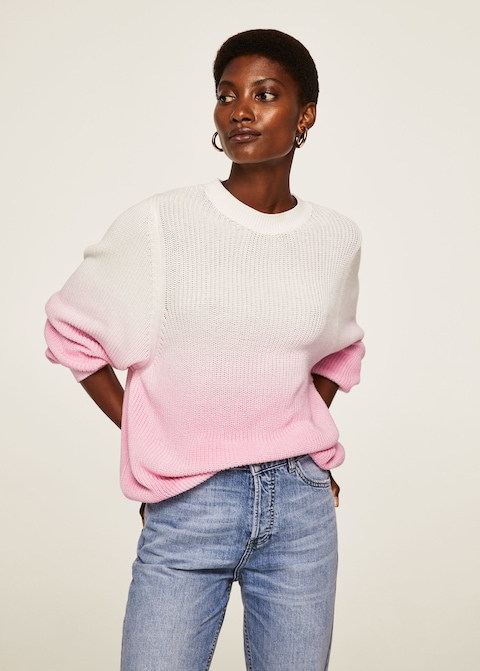 - OMBRE PINK COTTON SWEATER/ Mango $59.99