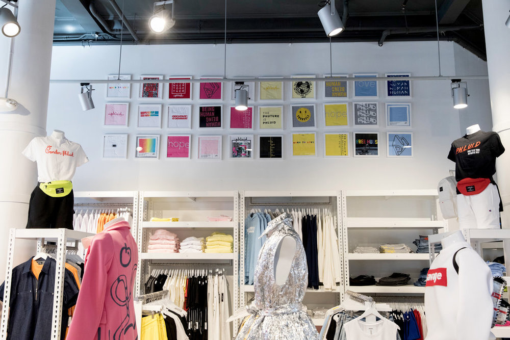 Phluid Project, a gender free store in NYC's Noho