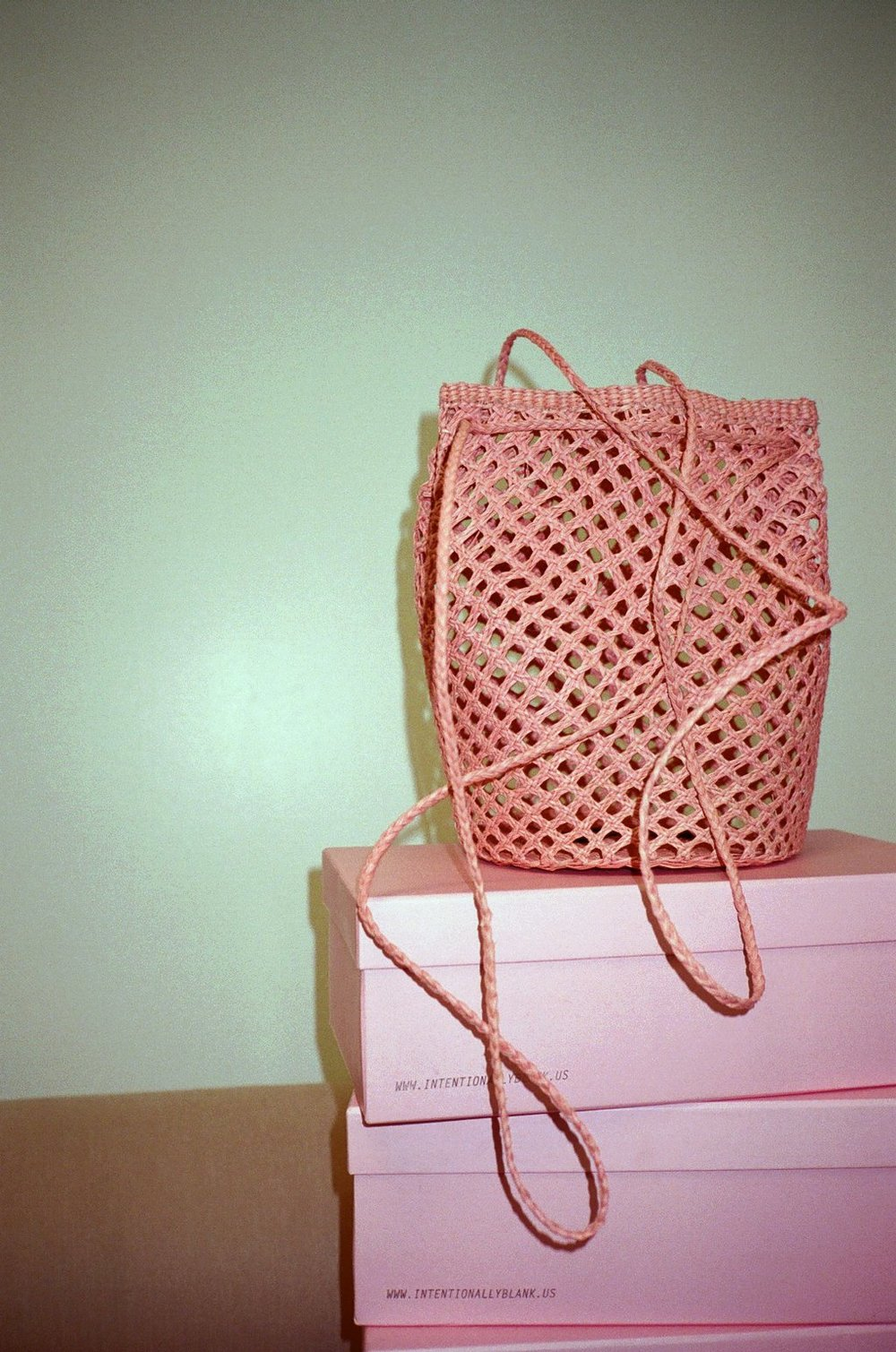 - TURI WOVEN SHOULDER BAG IN PALE ROSE / Artesano $160 available at Lisa Says Gah