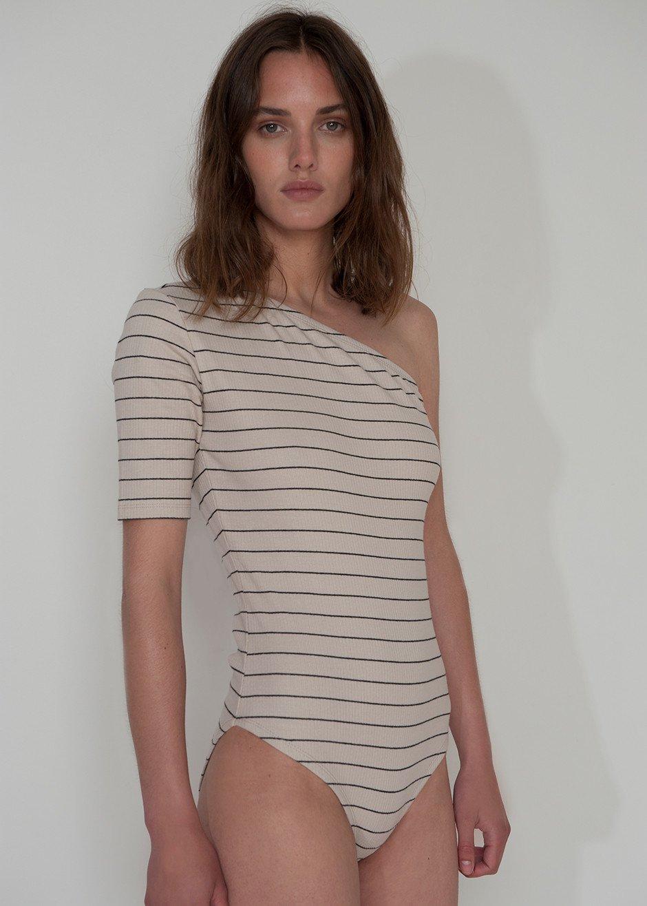 - NOVA ONE SHOULDER BODYSUIT / Just Female available at The Frankie Shop $45
