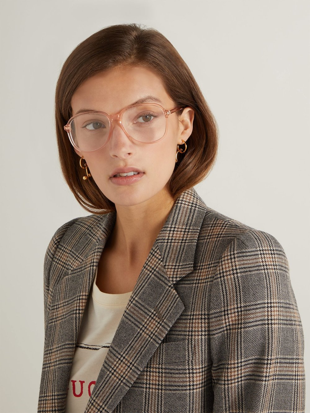 Square Frame Acetate Glasses by Gucci $305