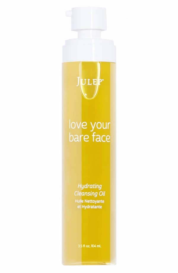 JULEP / LOVE YOUR BARE FACE HYDRATING CLEANSING OIL $28 (3.5 oz) - available at UltaI'm a huge believer in Rosehip Seed Oil, which is the star ingredient in this lightweight, antioxidant-rich oil. Gently melts away all makeup and the rosehip seed oil repairs and protects from environmental damage.