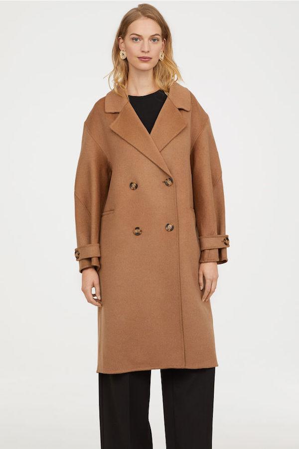 H&M / CASHMERE BLEND COAT $349  -