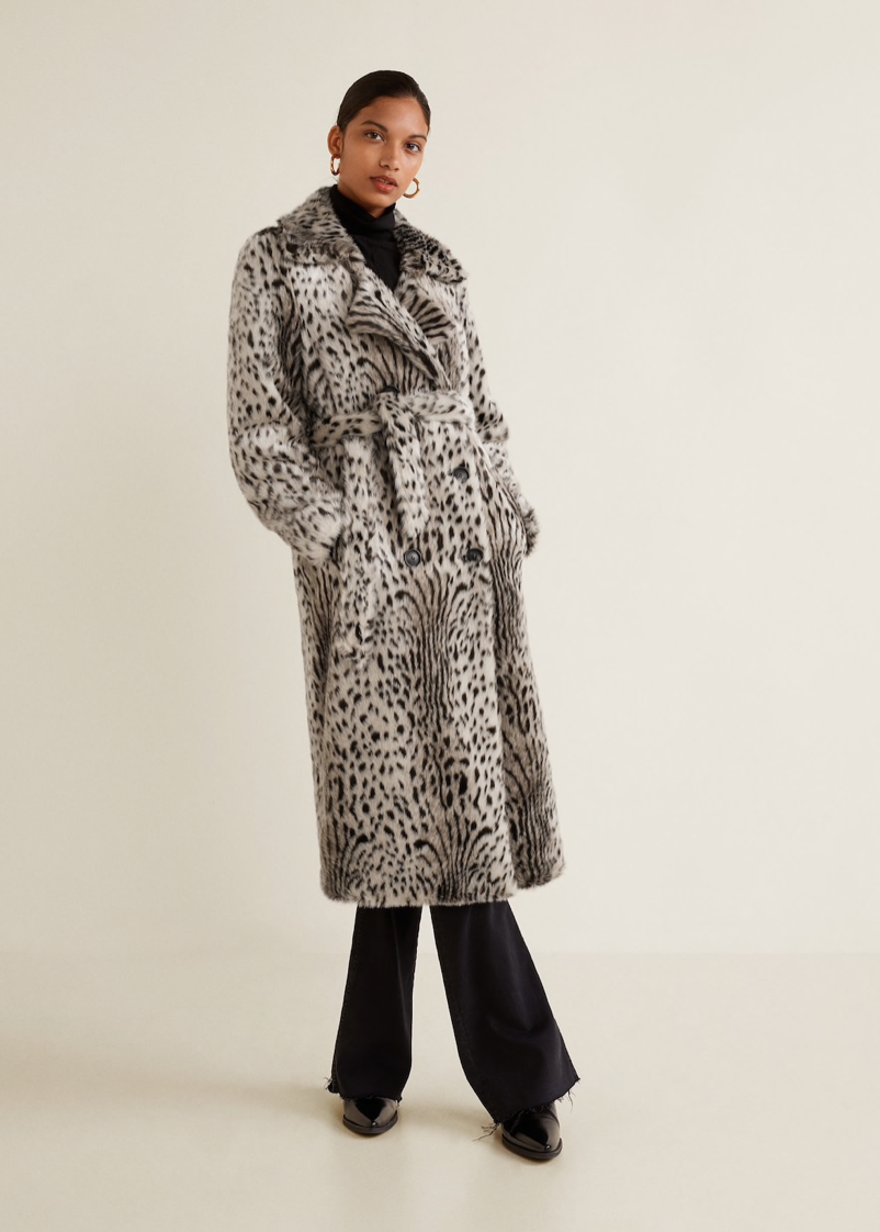 FAUX FUR LEOPARD COAT $230 -