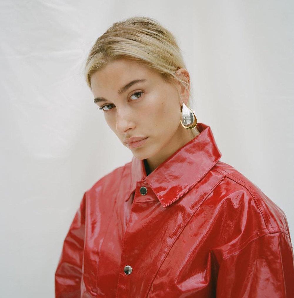 Hayley Baldwin in Adam Selman fw18 ph: Bec Parsons