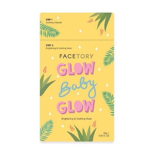 FACETORY / GLOW BABY GLOW KOREAN SHEET MASK $3.50 -