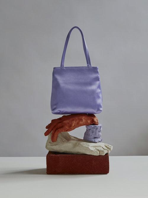 HAI small lilac silk bag via Joan the Store
