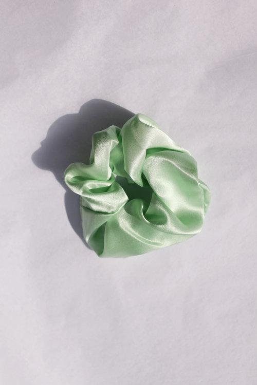 Hai x Joan silk scrunchie via Joan the Store