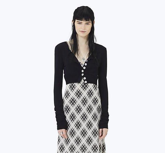 Marc Jacobs redux grunge knit crop cardigan