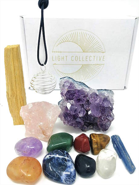 LIGHT COLLECTIVE / 13 PIECE HEALING CRYSTALS SET $22.50 - Your chakra needs balancing. For more on creative crystals click here.