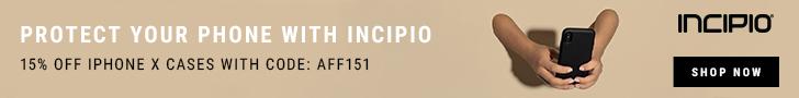 Incipio iPhone/Pad cases 15% off code