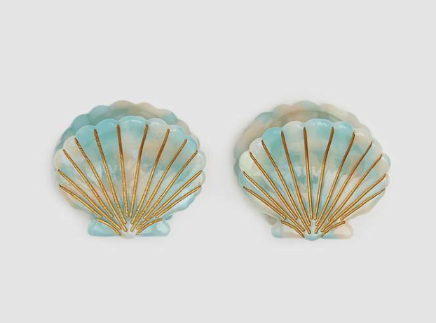 VALET STUDIO / URSULA CLAW CLIPS IN MINT $43 - available at Need Supply