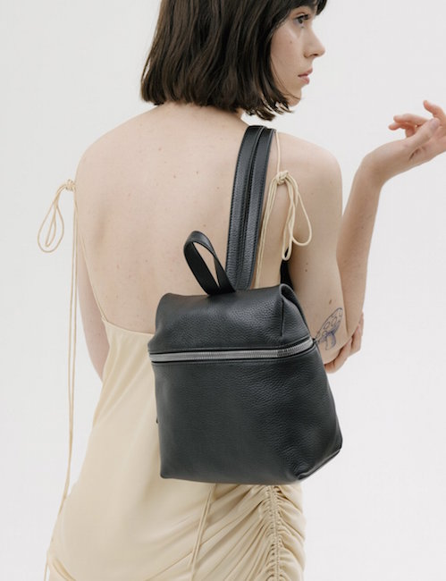 KARA / BLACK LEATHER SMALL BACKPACK $450 -