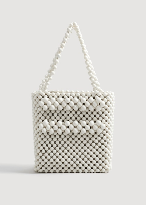 MANGO / BEADED SHOPPER BAG $99.99 -