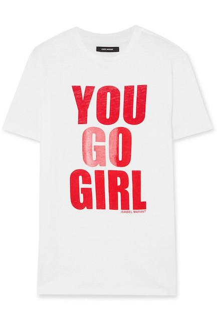 ISABEL MARANT / YOU GO GIRL T-SHIRT $140 -