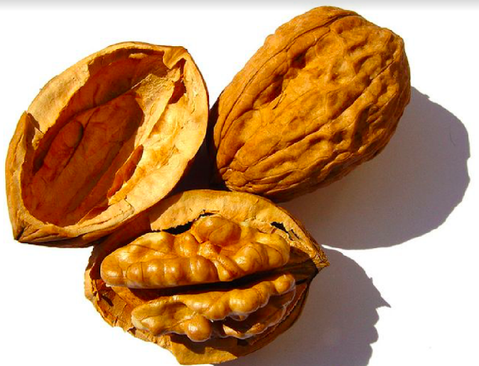 WALNUTS - Rich in Omega-3 Fatty acids, which play a role in reducing acne and wrinkles.