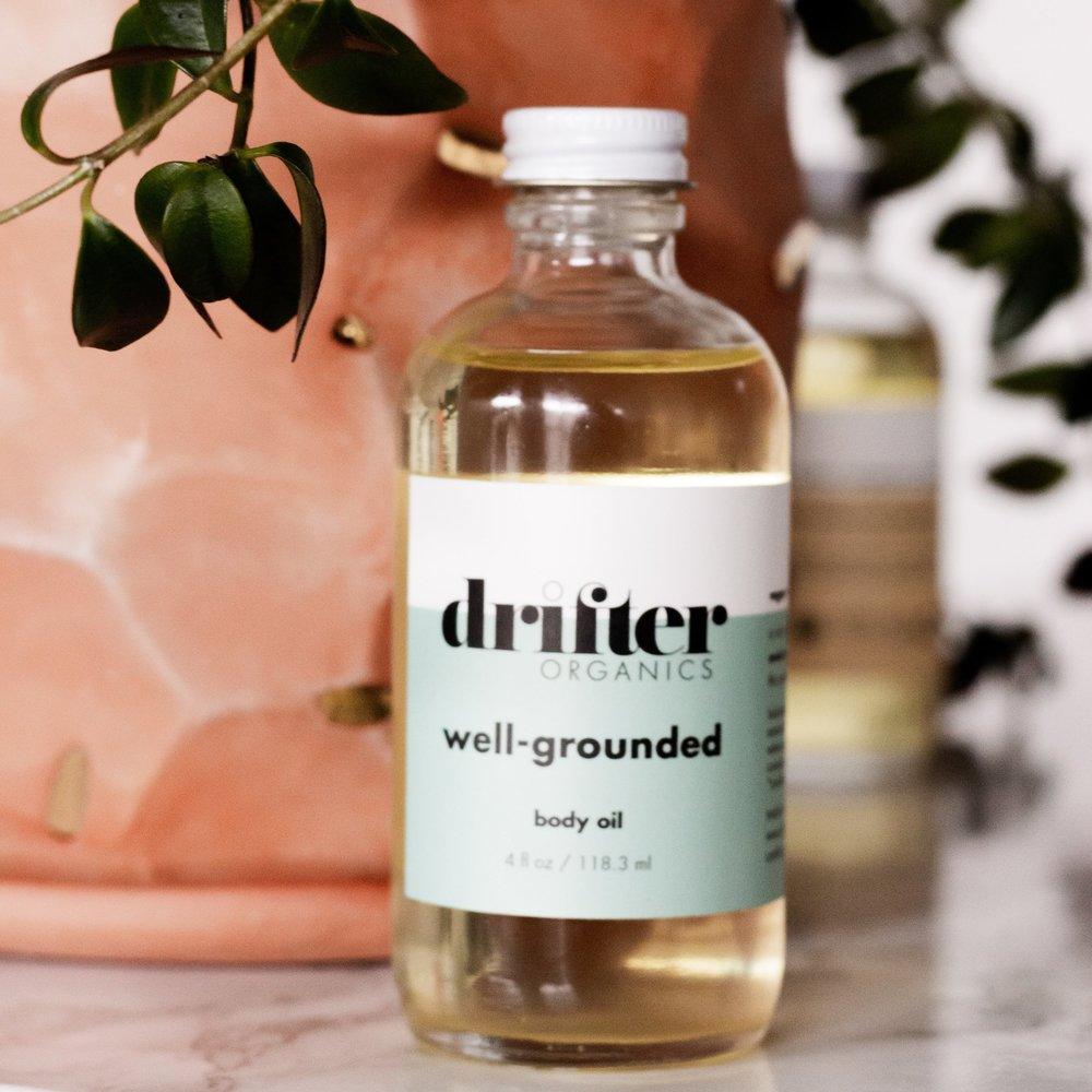 Drifter Organics well grounded body oil