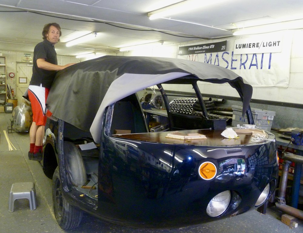 Car 2 receiving a new roof