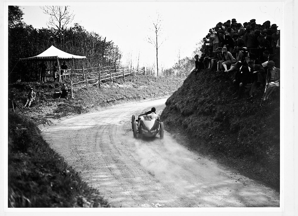 Racing at Shelsley Walsh 1928.