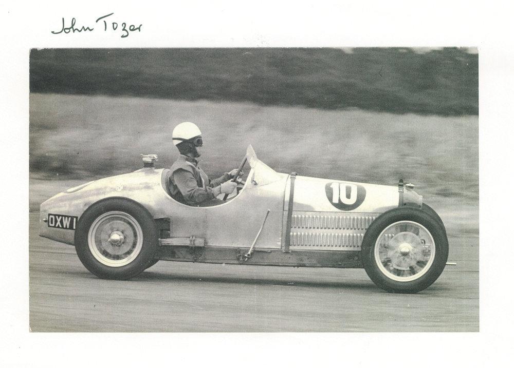 Tozer racing Silverstone 1956.