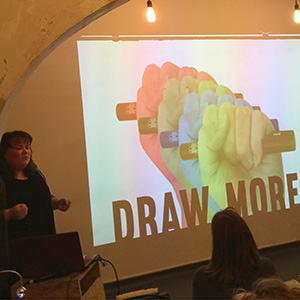 cara holland, graphic change, visual thinking, pecha kucha presentation