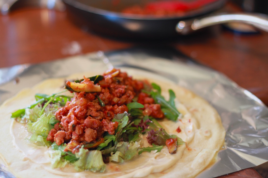 Veggie wrap sandwich - Chicken(soy)balbacua