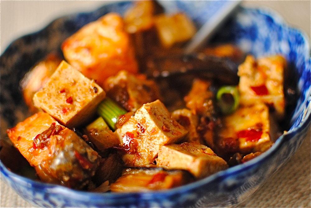 本格自家製の豆板醤で、麻婆豆腐(香りつけにチョップドフェンネル入り)