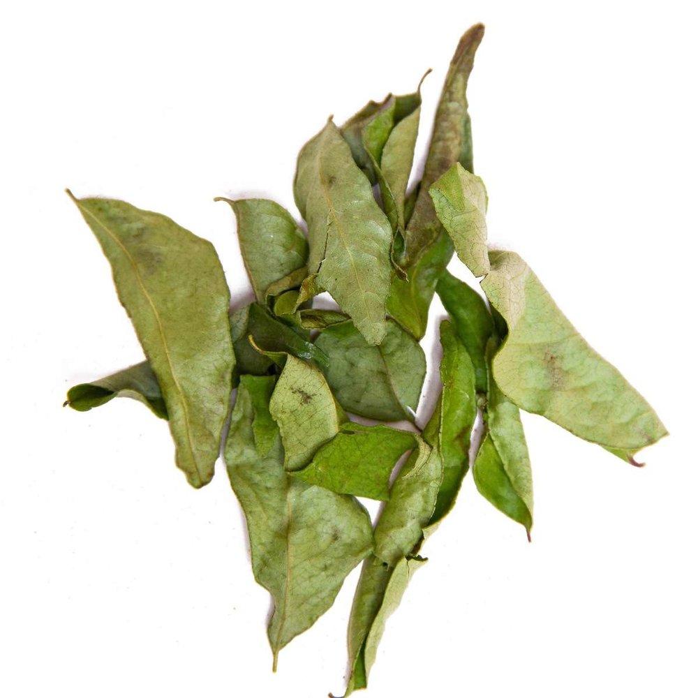 ドライカリーリーフ(見た目はコブミカンの葉と似ていますが、香りがちがいます)