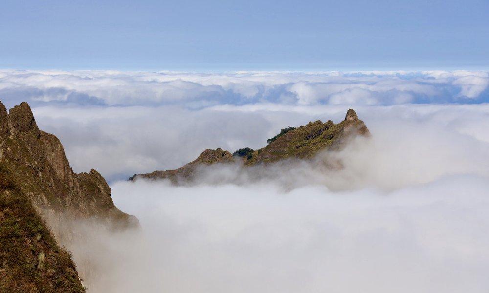 死火山、コーボ山の山頂 標高1550m からの眺め